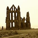 Whitby Abbey Aged by shane22
