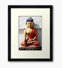 Buddhism statue Framed Print