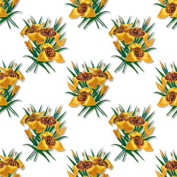 Flower Vintage Pattern Tiger Lily by Skullz23