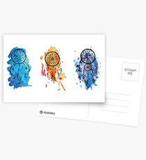 Watercolor Dreamcatchers Postcards