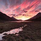 Fiery Sunset over Loch Leven by kernuak