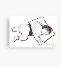 Jess sleeping Canvas Print