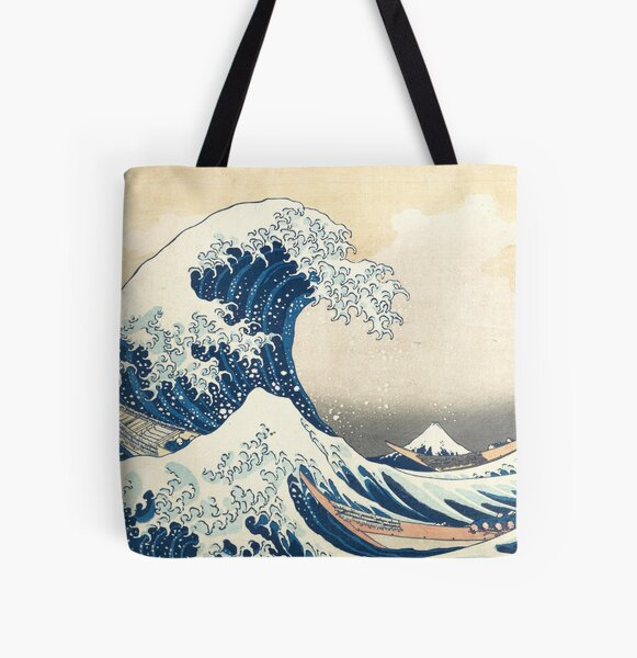 The Great Wave of Kanagawa of Hokusai All Over Print Tote Bag