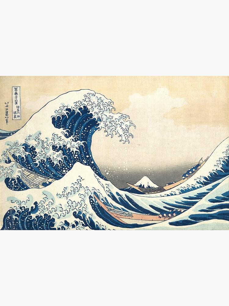 The Great Wave of Kanagawa of Hokusai by fourretout