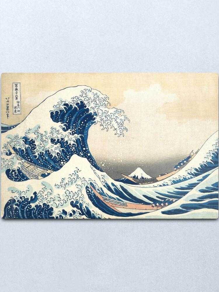 Alternate view of The Great Wave of Kanagawa of Hokusai Metal Print