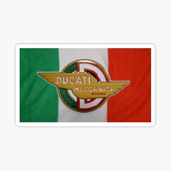 Ducati Meccanica, Italian Flag Design Sticker