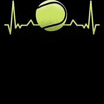 Tennis Love Ball Shirt Gift Heartbeat Pulse Player Coach by Rueb