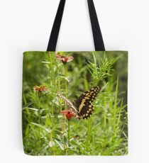 Butterfly and Grasshopper Tote Bag