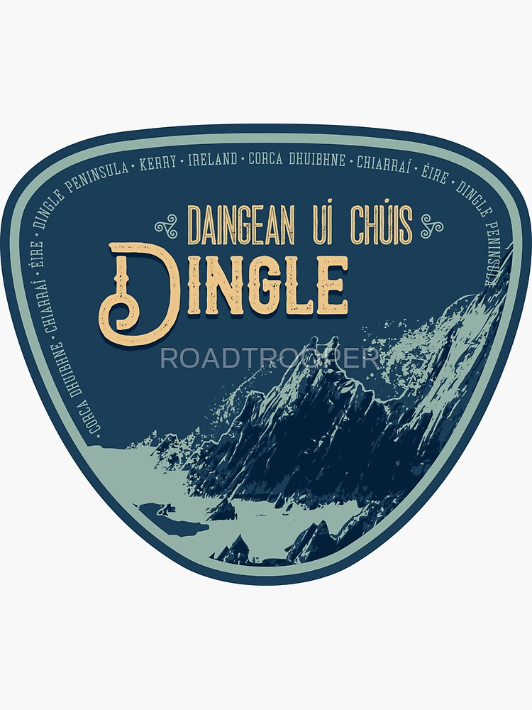 Ireland - Dingle Peninsula T-Shirt + Sticker 3 by ROADTROOPER