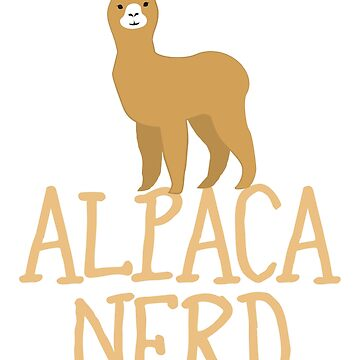 Alpaca nerd (expert on Alpacas) by jazzydevil