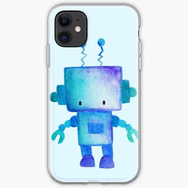 Cute Robot iPhone Soft Case