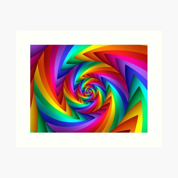 Rainbow Fractal Spiral  Art Print