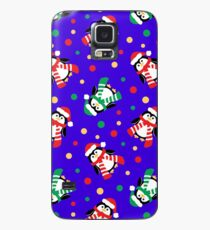Cute Christmas Penguins Case/Skin for Samsung Galaxy