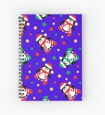 Cute Christmas Penguins Spiral Notebook
