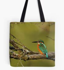 Kingfisher on a Tree Tote Bag