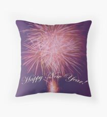 Happy New Year Fireworks 2 Throw Pillow