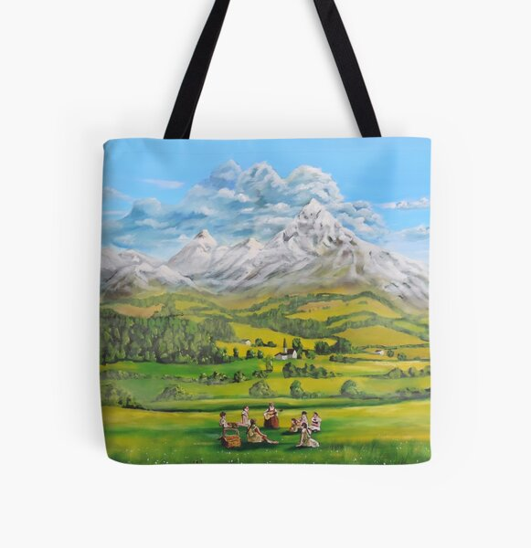 The Sound of Music oil painting All Over Print Tote Bag