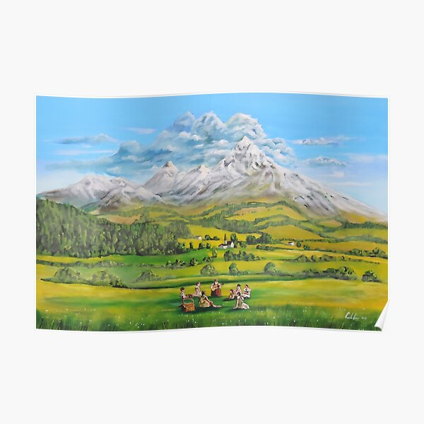 The Sound of Music oil painting Poster