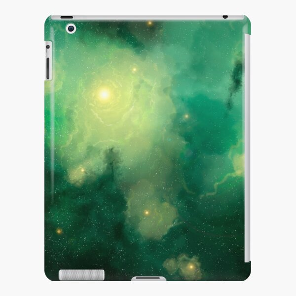 Green space star nebula in Space Background. Digital painting. iPad Snap Case