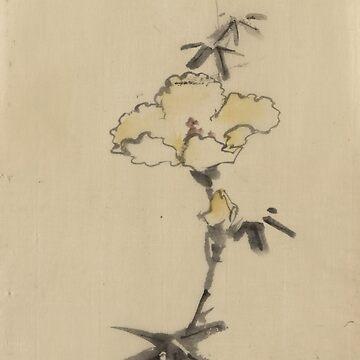 Yellow Blossom - Hokusai Katsushika - 1850 by CrankyOldDude
