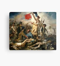 Liberty guiding the people of Eugène Delacroix Metal Print