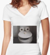 Toilet humour Women's Fitted V-Neck T-Shirt
