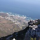 Eagles eye view, Camps Bay, South Africa by heartyart