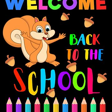 Welcome Back to the School - Funny Chipmunk and Crayons by mrhighsky