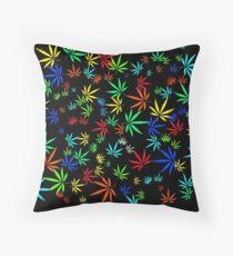 Juicy Marijuana Leaves Throw Pillow