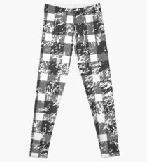 Snowy Buffalo Plaid Leggings