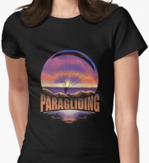 Paragliding Skydiving Parachute Women's Fitted T-Shirt