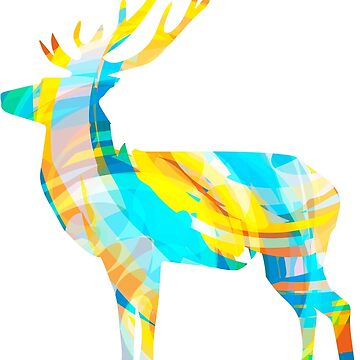 Abstract colourful buck by choppy777