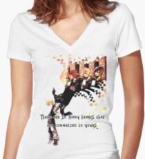 Kingdom Hearts Roxas memory Women's Fitted V-Neck T-Shirt