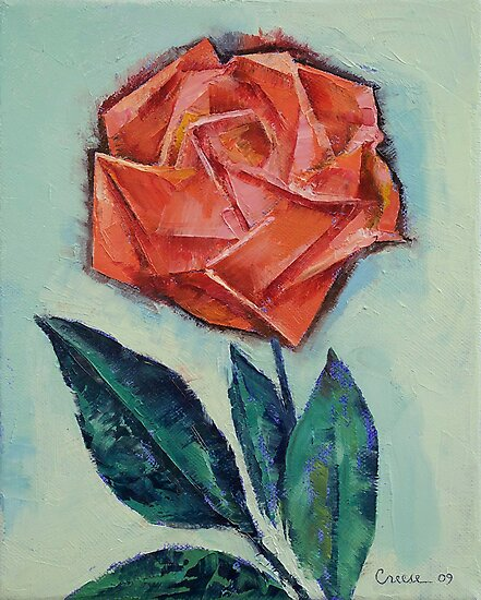 Origami Rose by Michael Creese