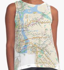 #NY #subway #map #famousplace #BrooklynBridge #CityHall #ChambersStreet #NewYorkCity #USA #map #cartography #topography #travel #country #guidance #vector #graph#colorimage #newyorkstate #NYSubwayMap Contrast Tank