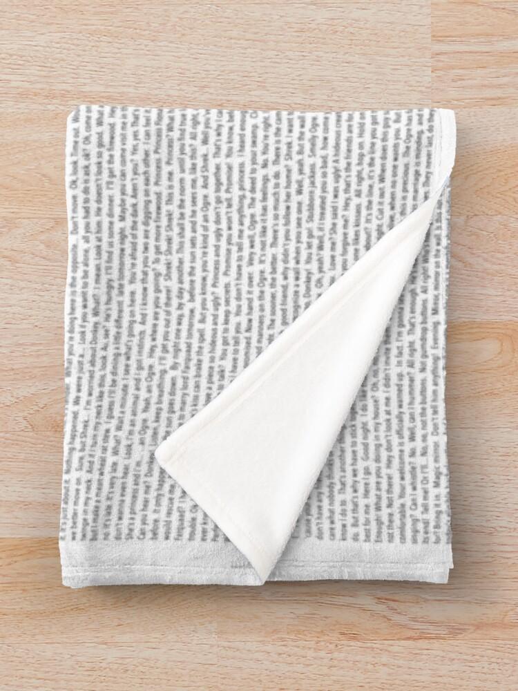 Alternate view of Entire Shrek Script Throw Blanket