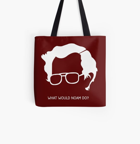 Noam Chomsky All Over Print Tote Bag