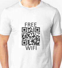 Free Wifi QR Code Slim Fit T-Shirt