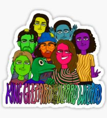king gizzard and the lizard wizard: rainbow version (transparent) Sticker