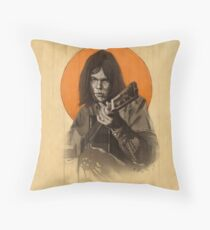 Neil Young Harvest Throw Pillow