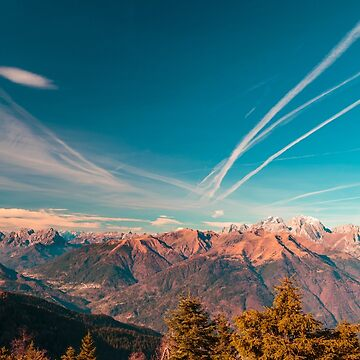 Sunny autumn day at the mount Tersadia in the italian alps by zakaz86