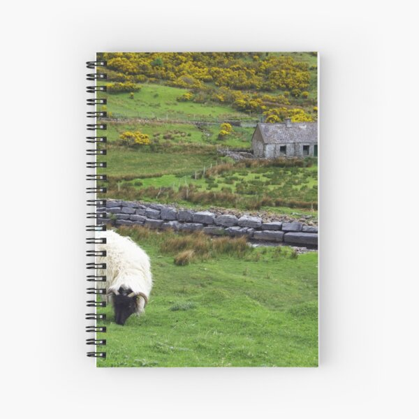 Stone Cottage Gorse and Sheep Spiral Notebook