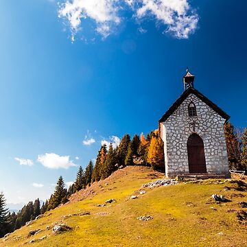 The Madonna della neve church in a colorful autumn by zakaz86