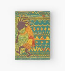 Native American Kokopelli - Ethno Border Pattern 4 Hardcover Journal