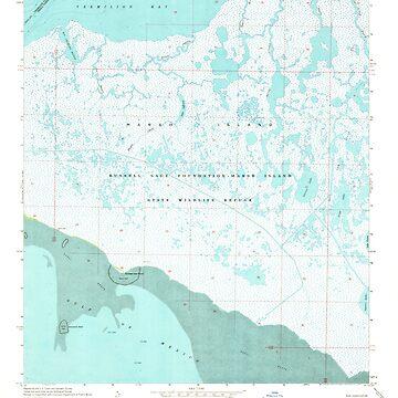 USGS TOPO Map Louisiana LA Bayou Lucien 331362 1968 24000 by wetdryvac