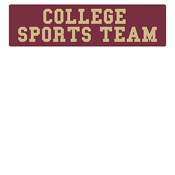 Generic College Sports Team Bumper Sticker - Burgandy and Gold by BrobocopPrime