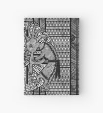 Native American Kokopelli - Ethno Border Pattern 6 Hardcover Journal