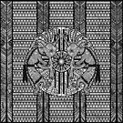 Native American Kokopelli - Ethno Border Pattern 6 by EDDArt