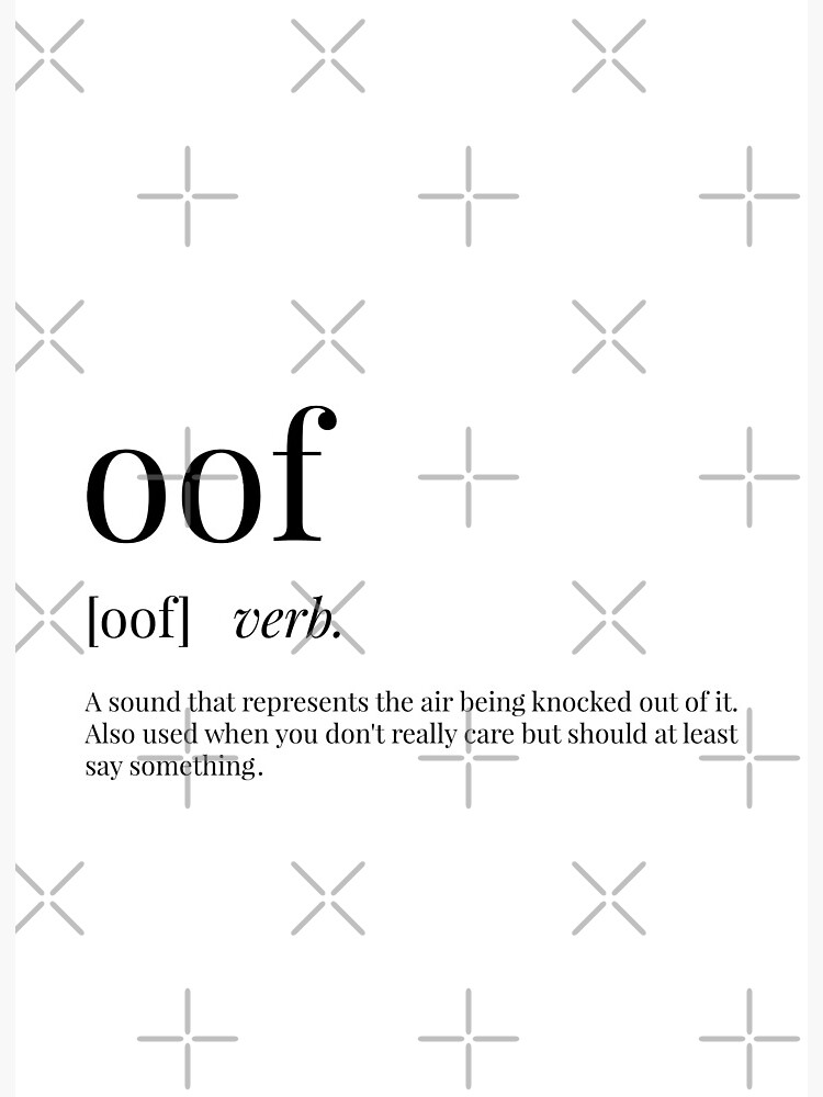 Oof Definition | Art Board Print