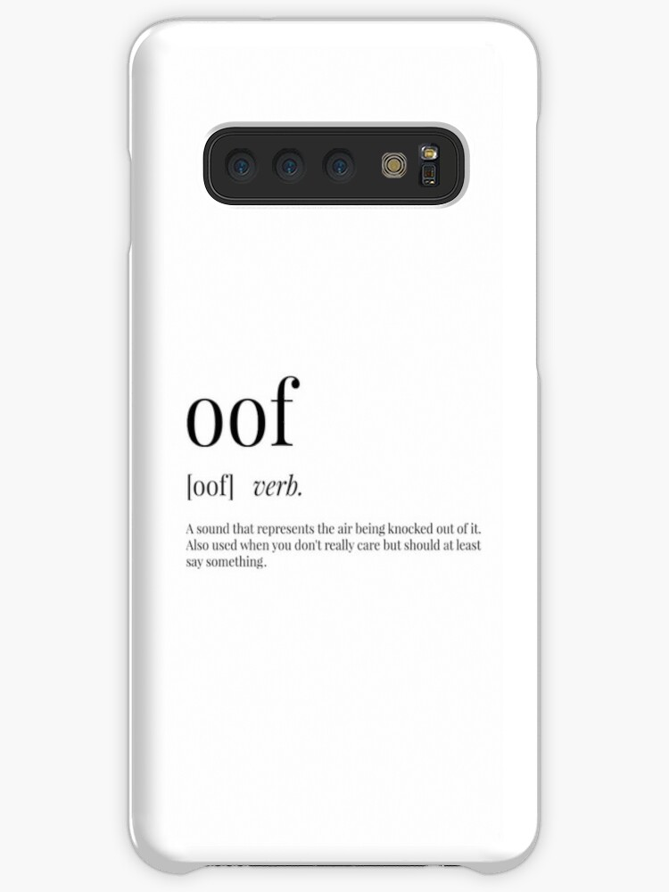'Oof Definition' Case/Skin for Samsung Galaxy by definingprints
